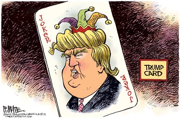 Trump Card Rick McKee The Augusta Chronicle