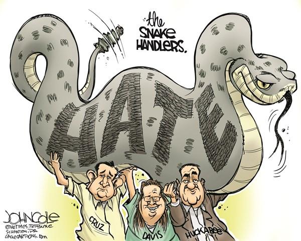 Cruz Davis Huckabee Hate John Cole The Scranton Times Tribune