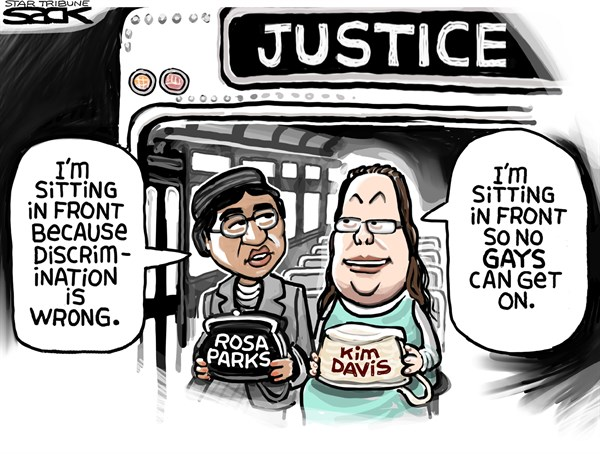 Kim Davis and Parks Steve Sack The Minneapolis Star Tribune