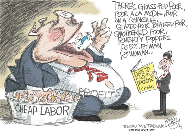 American Poor vs Paul Ryan Pat Bagley Salt Lake Tribune