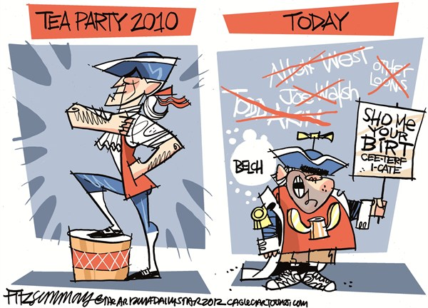 Tea Party Deevolution David Fitzsimmons The Arizona Star Cagle