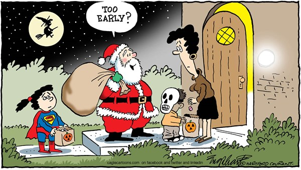 Christmas at Halloween Bob Englehart The Hartford Courant