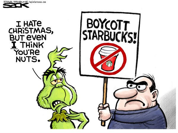 Grinch and Starbucks Steve Sack The Minneapolis Star Tribune