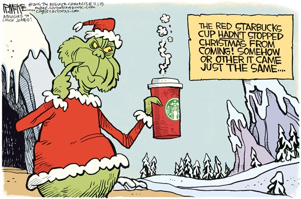 Starbucks and Christmas Rick McKee The Augusta Chronicle