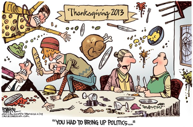 Thanksgiving Dinner Rick McKee The Augusta Chronicle