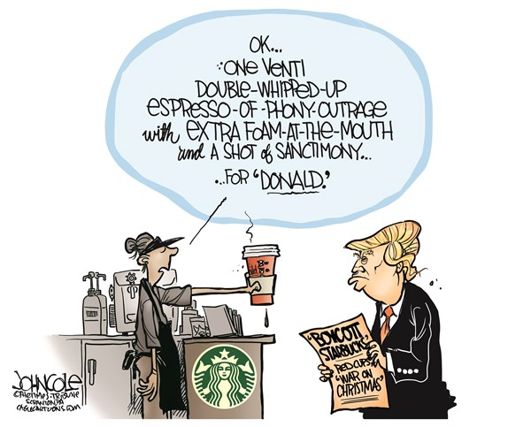 Trump vs Starbucks John Cole The Scranton Times Tribune