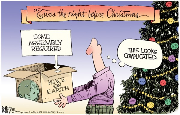 Peace on Earth III Rick McKee The Augusta Chronicle
