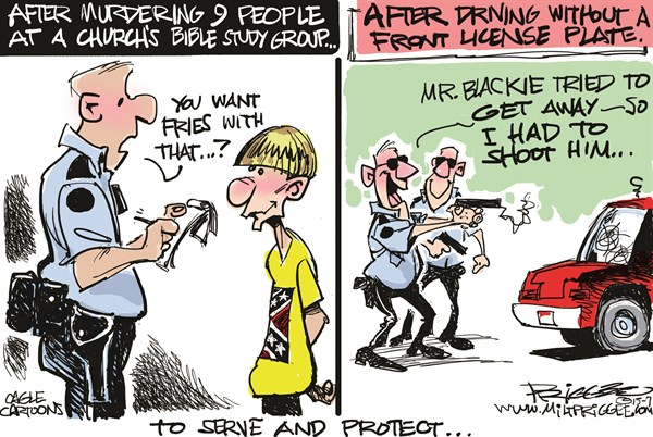 Police shootings I Milt Priggee www miltpriggee com
