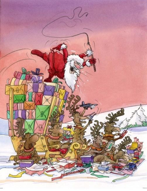 Santa Crashes Pierre Ballouhey