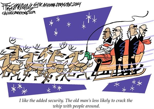 Santa Security David Fitzsimmons The Arizona Star