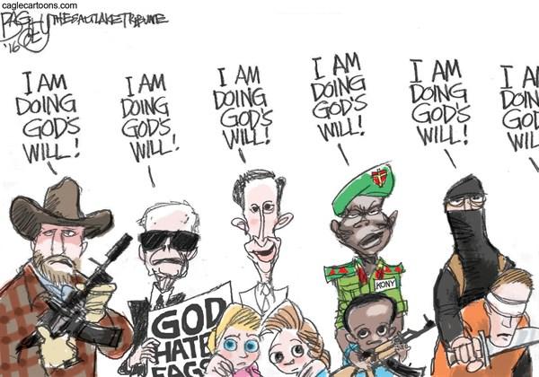 Doing God's Will Pat Bagley Salt Lake Tribune