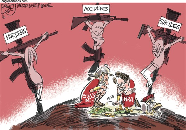 Gun Place in America Pat Bagley Salt Lake Tribune