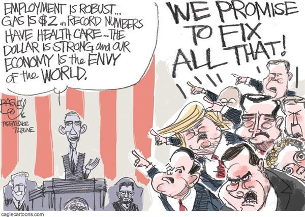 President Obama Haters Pat Bagley Salt Lake Tribune
