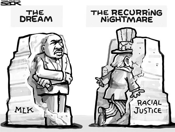 Racial Justice Steve Sack The Minneapolis Star Tribune