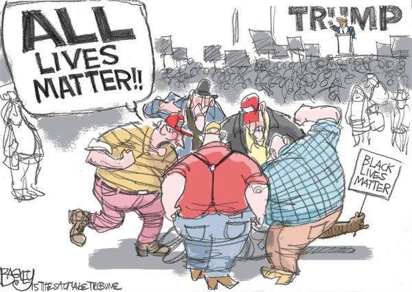 Trump Black Lives Matter Pat Bagley Salt Lake Tribune