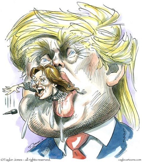 Trump Mouth Taylor Jones Politicalcartoons com