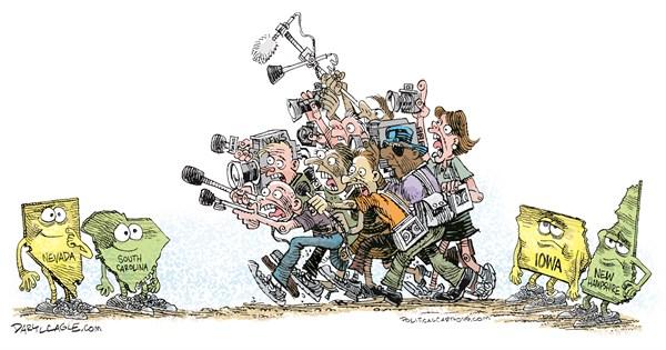 After New Hampshire Daryl Cagle CagleCartoons com
