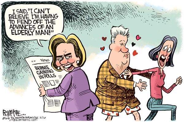 Bernie Advances on Clinton Rick McKee The Augusta Chronicle