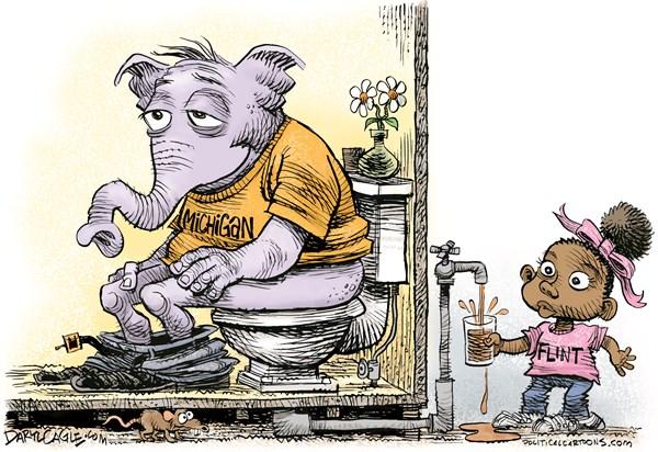 Flint Crap Daryl Cagle CagleCartoons com