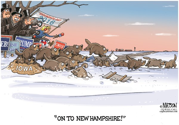 Groundhogs fleeing Iowa to NH RJ Matson Roll Call