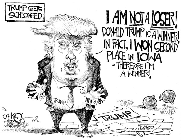 Trump Gets Slonged John Darkow Columbia Daily Tribune Missouri
