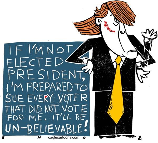 Trump Sues Randall Enos Cagle Cartoons
