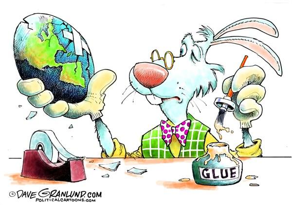 Cracked Easter Egg Dave Granlund Politicalcartoons com