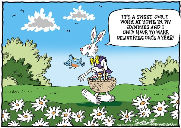 Easter Bunny Bob Englehart PoliticalCartoons com