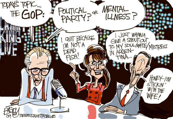Larry King Pat Bagley Salt Lake Tribune