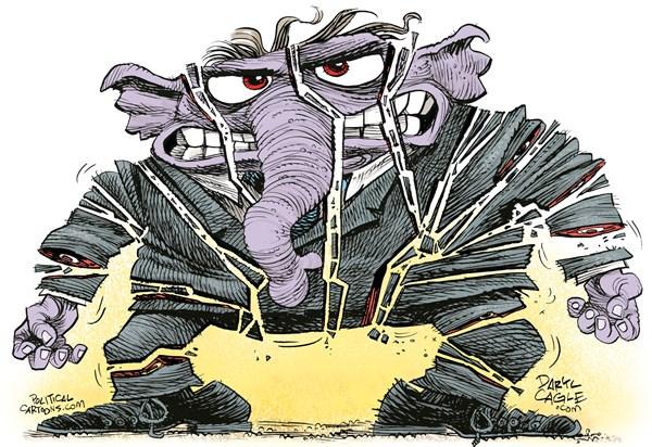 Shattered Republicans Daryl Cagle CagleCartoons com