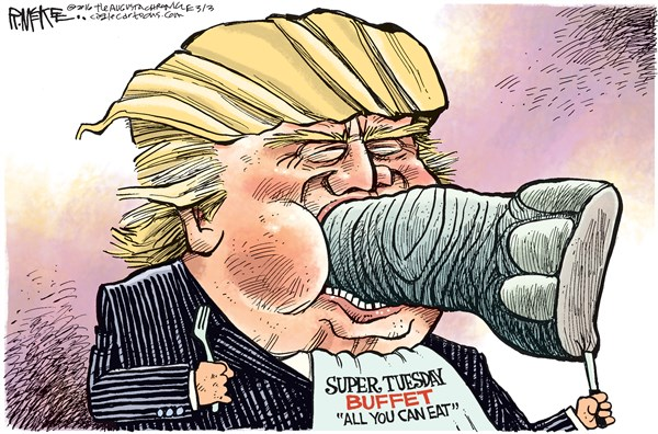 Super Tuesday Buffet Rick McKee The Augusta Chronicle