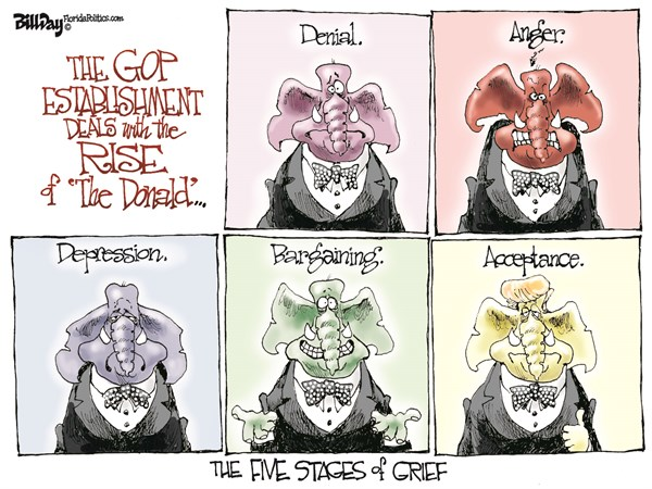 Trump Acceptance by GOP Bill Day Cagle Cartoons