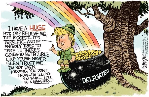 Trump Leprechaun Threats Rick McKee The Augusta Chronicle