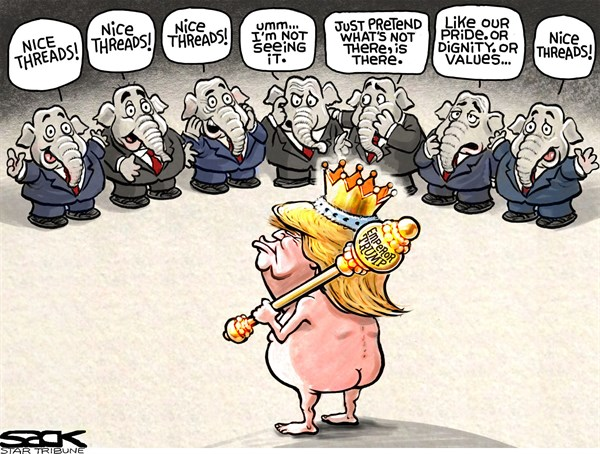 Emperor Trump Clothes Steve Sack The Minneapolis Star Tribune