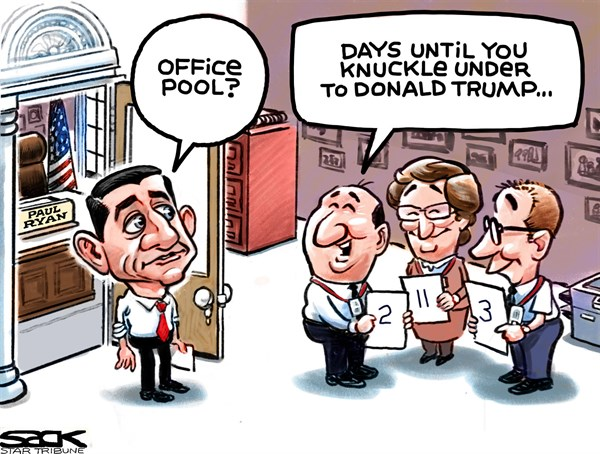 Paul Ryan and The Donald Steve Sack The Minneapolis Star Tribune