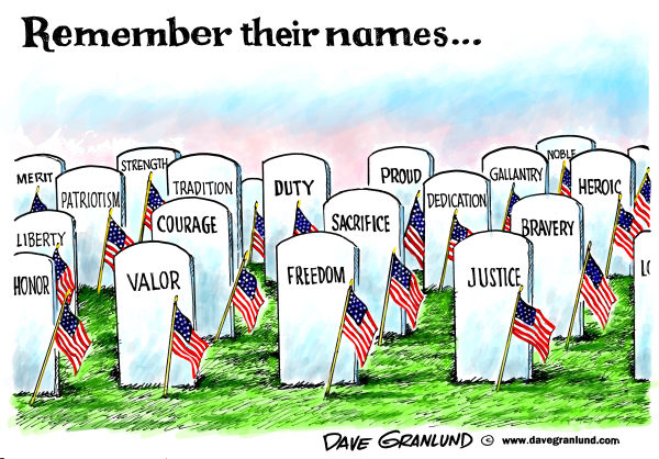 Remember their names Dave Granlund cagle cartoons