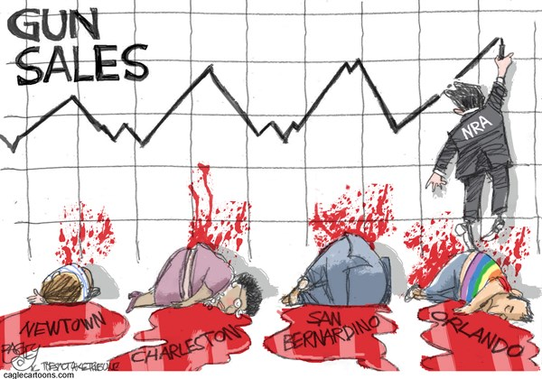 Climbing Gun Sales Pat Bagley Salt Lake Tribune