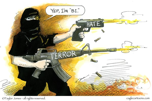 HATE AND TERROR Taylor Jones Politicalcartoons com