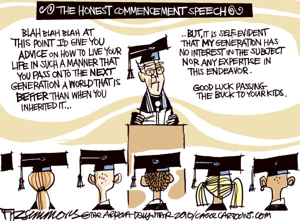 Honest Commencement Speech David Fitzsimmons The Arizona Star