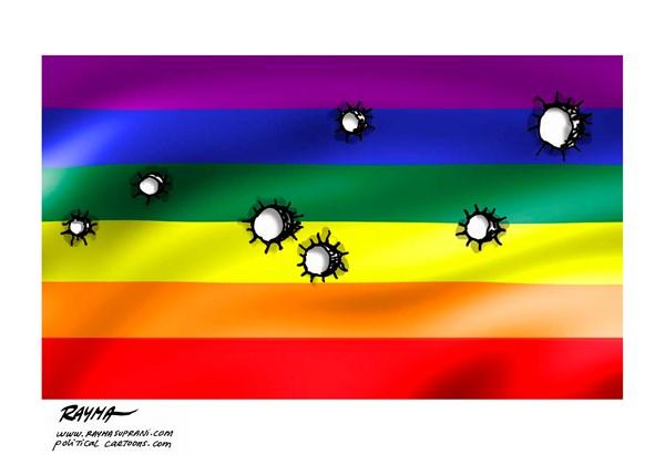 Orlando LGBT Flag Rayma Suprani CagleCartoons com
