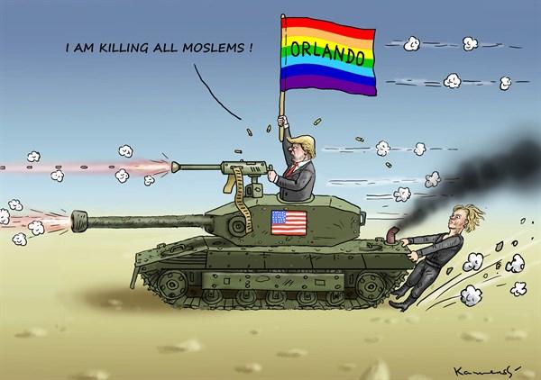 Trump killing Moslems Marian Kemensky Slovakia