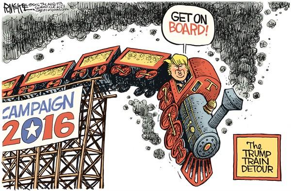 Trump Train Detour Rick McKee The Augusta Chronicle
