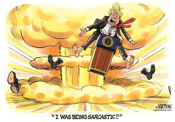 Being Sarcastic RJ Matson CagleCartoons com