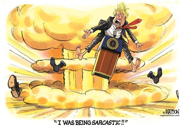 Being Sarcastic RJ Matson CagleCartoons com