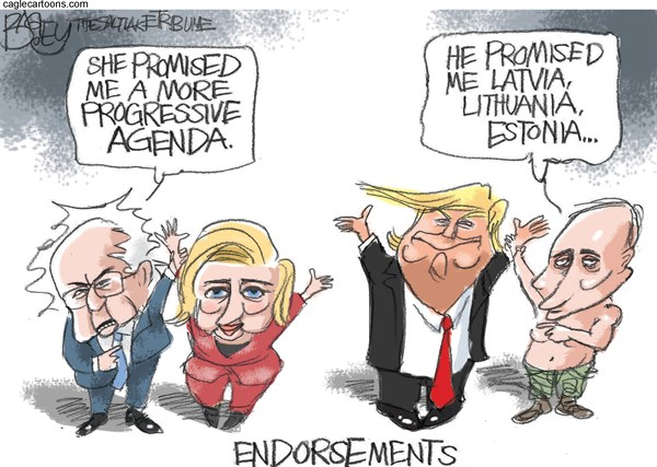 Endorsements Pat Bagley Salt Lake Tribune