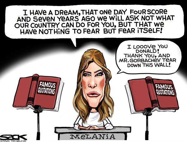 Melania Famous quotes Steve SackThe Minneapolis Star Tribune