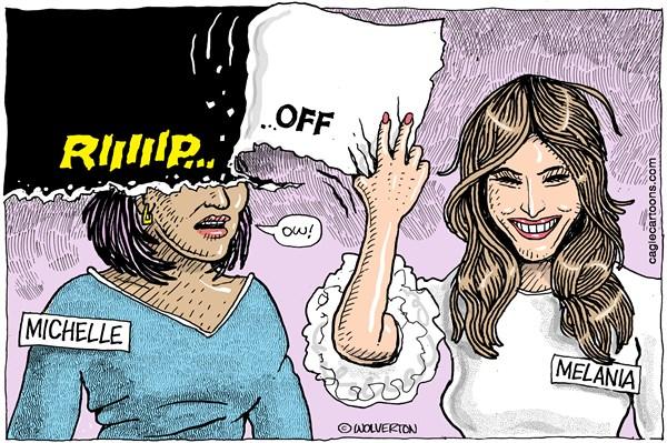 Melania rip off Wolverton Cagle Cartoons