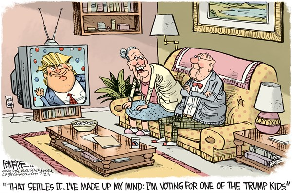 Trump Kids Rick McKee The Augusta Chronicle