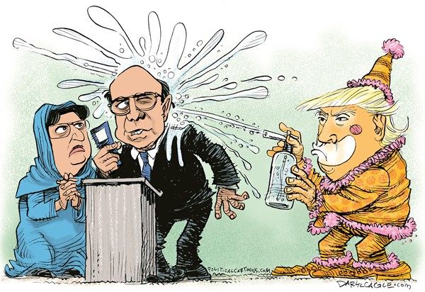 Donald Strikes Back at Khan Daryl Cagle CagleCartoons com