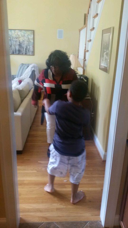 Mema and Grandson Dancing